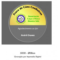 MEDALHÃO ACRILICO + ESTOJO REF. 5030